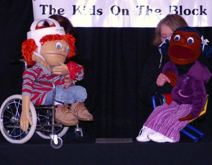 Kids on the Block puppets teach children about disabilities. (Submitted photo)