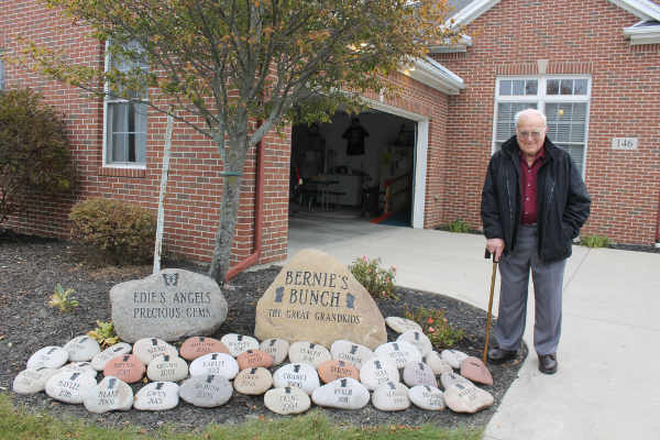 Bernie Calvelage shows off his Memory Garden made to honor his late wife. (DHI Media/Nancy Spencer)