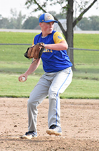 Tent Lindeman of St. John's pitched three innings in Thursday's loss to Fort Jennings. (DHI Media/Joe Dray)