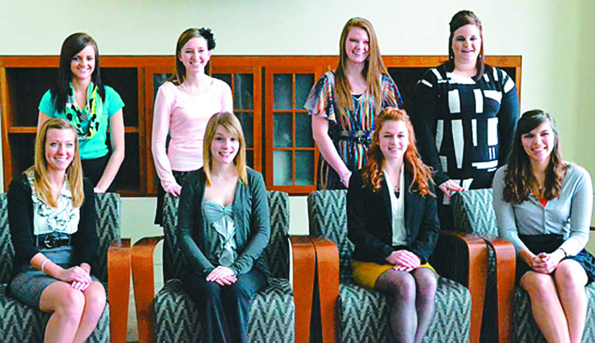 Eight young ladies will vie for the title Queen Jubilee XXXVIII Friday at the Marsh Auditorium. They are, front from left, Courtney Gorman of Lincolnview High School, Alexis Ford of Parkway High School, Corinne Metzger of Jefferson High School and Savannah Roughton of Paulding High School; and back, Chelsea Critchfield of Wayne Trace High School, Jordan Rex of Spencerville High School, Karissa Place of Van Wert High School and Kate Bauer of Crestview High School.