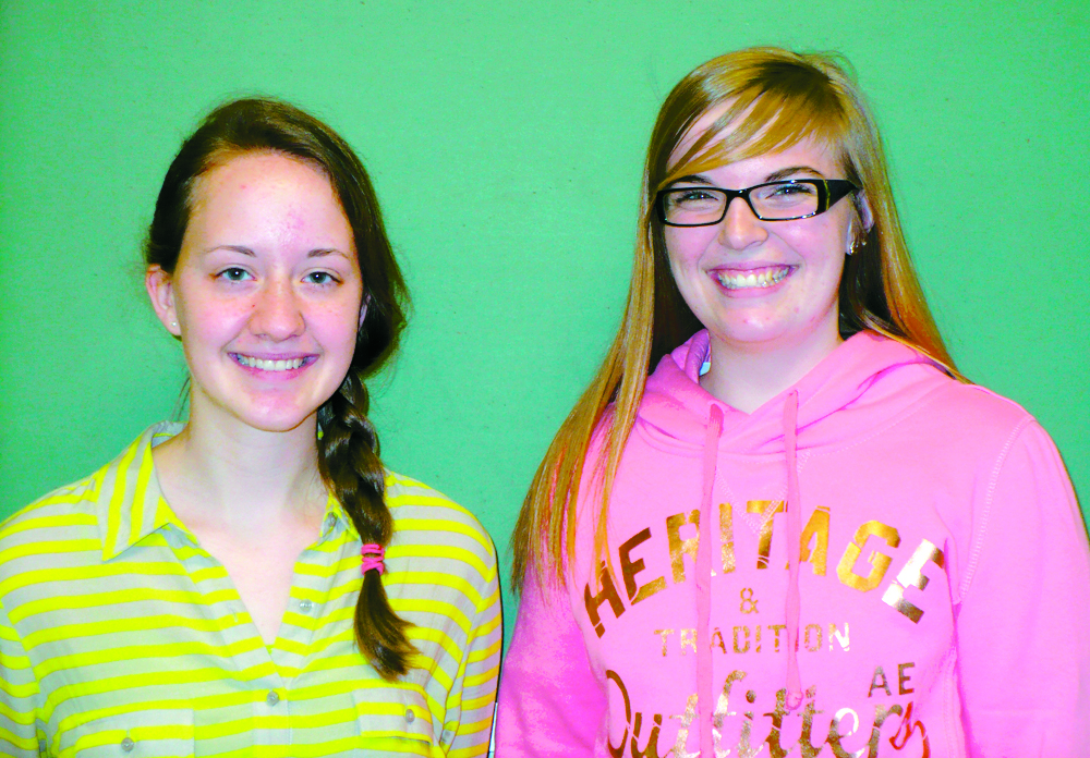 St. John's High School sophomore Elizabeth Winhover, left, and senior Tricia Warnecke were awarded an all-expense-paid trip to Washington, D.C., and Gettysburg, Pa., as two of the 18 top winners of the American Legion Americanism Test.