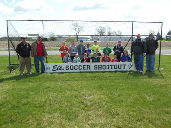 Van Wert Elks Lodge 1197, Benevolent and Protective Order of Elks, held its Soccer Shoot on Saturday at the Elks Lodge. Approximately 25 students participated in the event and were cheered on by parents and grandparents. The photo is of the contestants, winners and volunteers. (Photo Submitted)