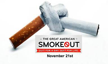 The American Cancer Society's Great American Smokeout is today. (Web photo)