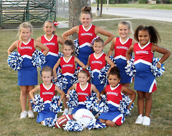 The Mohawks cheerleaders are, front from left: Aubrey Fairchild, Megan Hoersten and Kirya Jefferson. Back: Liberty Hutchinson, Alivia Arroyo, Megan Kerner, Olivia Martin, Faith Cross, Abby Kerner and Ava Jefferson. Cheer Advisors: Deb Looser, Halle Hays and Jessica Odenweller.